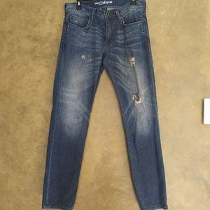 DKNY Williamsburg Slim Distressed Jeans 32